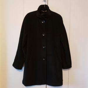 Ellen Tracy Black Wool Angora Sw…